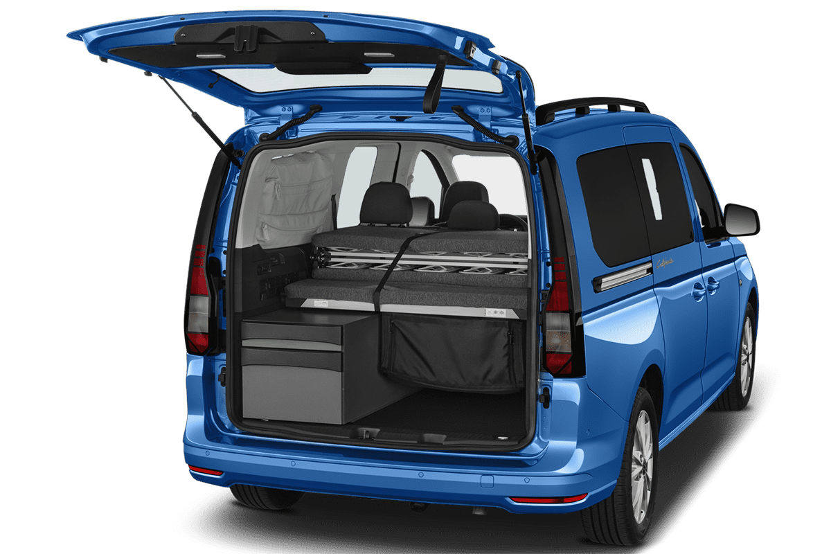VW Caddy California trunk